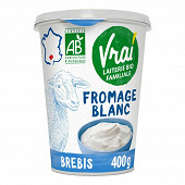 Vrai fromage blanc lait de brebis 400g