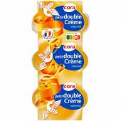 Cora petit double crème 3x50g 31%mg au lait de vache pasteurisé