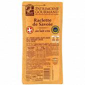 Patrimoine Gourmand raclette de Savoie igp au lait cru 30% mg 350g