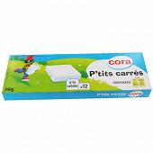 Cora kido p'tits carrés fromage blanc fondu 9% MG 12 x 20g