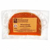 Patrimoine gourmand mimolette extra vieille au lait pasteurisé 200g