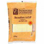 Patrimoine gourmand Beaufort AOP au lait cru  34%mg 220 g