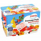 Cora kido fromage frais aux fruits panaché 12x50g