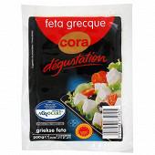 Cora dégustation feta grecque nature AOP tranche 200 g