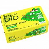 Nature bio beurre demi-sel de baratte issu de l'agridulture biologique 82%mg 250g