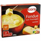 Cora préparation au fromage pour fondue suisse emmental 400g