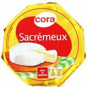 Cora sacrémeux doux et onctueux au lait pasteurisé 250g