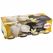 Cora yaourt lait entier saveur vanille 8x125g
