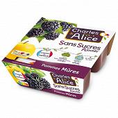 Charles & Alice spécialité de pommes mûres 4x97g sans sucres ajoutés