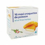 16 Maxi croquettes de poisson ail et fines herbes 16x62.5g