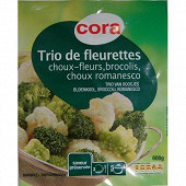 Cora trio de fleurettes 600 g