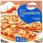 Cora pizza croustillante thon pâte fine 355g
