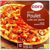 Cora pizza poulet cuite sur pierre 390g