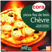 Cora pizza chèvre cuite au feu de bois 440g