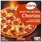 Cora pizza chorizo cuite au feu de bois 440g