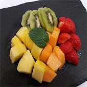Quatuor de fraise (ananas, fraise, kiwi, melon)