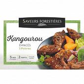 Emincés de Kangourou marinés aux 3 poivres 250g saveurs forestieres