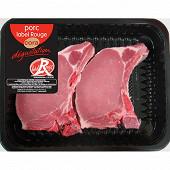Côte première de porc Label Rouge x2 Cora dégustation