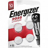 Energizer 4 piles miniatures enr lithium 3v cr2025