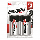 Energizer 2 piles Max LR20 (D)