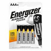 Energizer 4 piles alcalines AAA (LR03) alkaline power