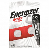 Energizer 2 piles boutons CR2032