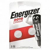 Energizer 2 piles boutons CR2016