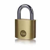 Yale cadenas laiton mat anse acier 2 clés 30mm