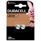 Duracell 2 piles boutons LR44