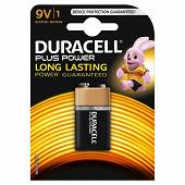 Duracell pile alcaline 9 volts (6LR61) plus power