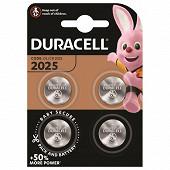 Duracell 4 piles pour appareil électronique cr 2025