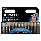 Duracell 12 piles alcalines AA ultra power