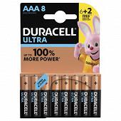 Duracell 6 piles alcalines AAA (LR03) + 2 offertes ultra power