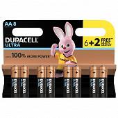 Duracell  6 piles AA (LR06) + 2 offertes ultra power