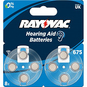 Rayovac piles auditives v675 x 8