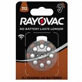 Raypvac piles auditives acoustic v312 x8