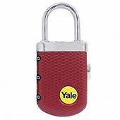 Yale cadenas de voyage à combinaison 31 mm rainuré rouge, 3 chiffres