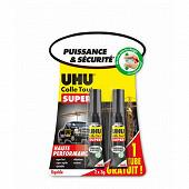 Uhu strong & safe 3g liquide 1 tube + 1 tube offert