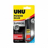 Uhu colle power glue ultra rapide supergel 3gr