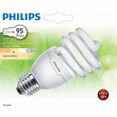 Philips ampoule tornado T2 E27-20 watts blanc chaud