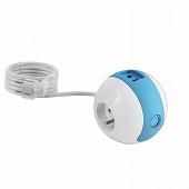 Watt&Co multiprise wattball bleue 2 prises 16A+ 1 prise 6A + 2 ports usb