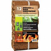 Buches de bois compresse pack de 12 buches