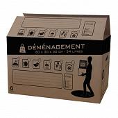 Pack and move carton de déménagement 54L