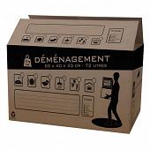 Pack and move carton de déménagement 72L