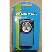 Prodelec mini boitier lampe de poche métal LED