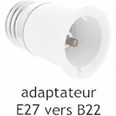 Prodelect adaptateur douille male B22-FEM E27