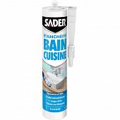 Sader mastic bain cuisine translucide 280ml