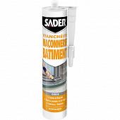 Sader mastic maconnerie bâtiment gris 280ml