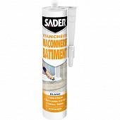 Sader mastic maçonnerie bâtiment blanc 280ml