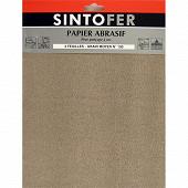 Sintor papier abrasif feuilles pour ponçage à sec grain moyen